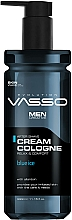 Parfumuri și produse cosmetice Cremă-apă de colonie după ras - Vasso Professional Men After Shave Cream Cologne Blue Ice