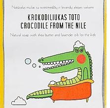 Parfumuri și produse cosmetice Săpun cu unt de shea și ulei de lavandă pentru copii - Uoga Uoga Crocodile From The Nile Natural Soap