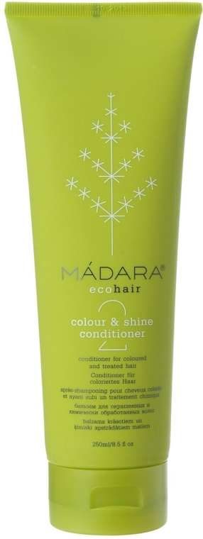 Balsam pentru păr colorat și tratat chimic - Madara Cosmetics Colour & Shine Conditioner — Imagine N1