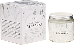 Parfumuri și produse cosmetice Pastă de dinți - Ben & Anna Natural White Toothpaste
