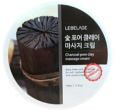 Parfumuri și produse cosmetice Cremă cu cărbune pentru masaj facial - Lebelage Charcoal Pore Clay Massage Cream