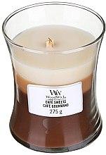 Parfumuri și produse cosmetice Lumânare aromatică în pahar - WoodWick Hourglass Trilogy Cafe Sweets