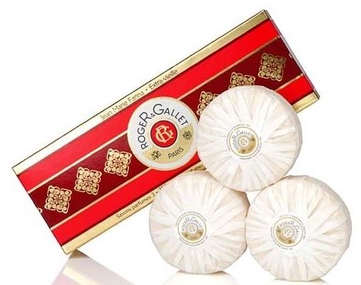 "Set trei săpunuri parfumate ""Jean Marie Farina"" - Roger & Gallet Jean Marie Farina Perfumed Soaps (soap/3x100g ) — Imagine N1"