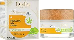 Parfumuri și produse cosmetice Cremă protectoare de zi pentru față - Delia Botanical Flow Protective Day Hemp Oil Cream