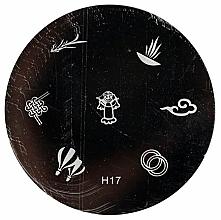 Parfumuri și produse cosmetice Placă pentru ștanțare, H17 - Ronney Professional