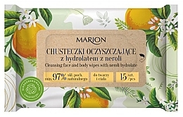 Parfumuri și produse cosmetice Șervețele de curățare cu hidrolat de neroli pentru față și corp, 15 buc - Marion