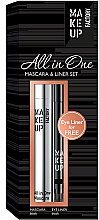 Parfumuri și produse cosmetice Set - Make up Factory All in One Mascara & Liner Set (mascara/9ml + liner/0.31g)