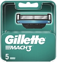 Parfumuri și produse cosmetice Casete de rezervă pentru aparat de ras, 5 buc. - Gillette Mach3