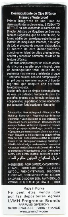 Demachiant pentru machiaj rezistent la apă 2 în 1 - Givenchy 2 Clean to Be True — Imagine N2
