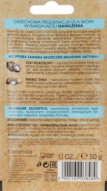 Peeling cu ulei de cocos pentru corp - Bielenda Coconut Oil Moisturizing Peeling — Imagine N2