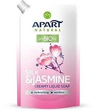 "Parfumuri și produse cosmetice Săpun lichid ""Mătase și Iasomie"" - Apart Natural Silk & Jasmine Soap (doypack)"