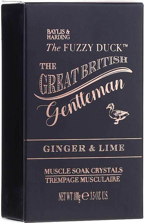 Set - Baylis & Harding The Fuzzy Duck Men's Ginger & Lime Slipper Set (bath/crystal/100g + soap/100g + sh/gel/50ml + ash/balm/50ml + slippers/1pcs) — Imagine N2