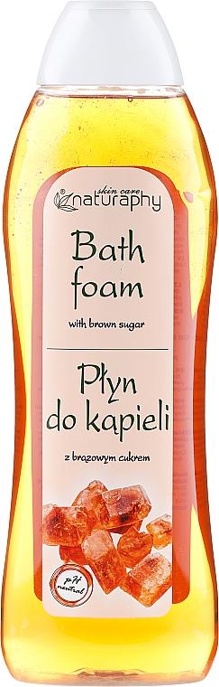 Spumă cu zahăr brun pentru baie - Bluxcosmetics Naturaphy — Imagine N1