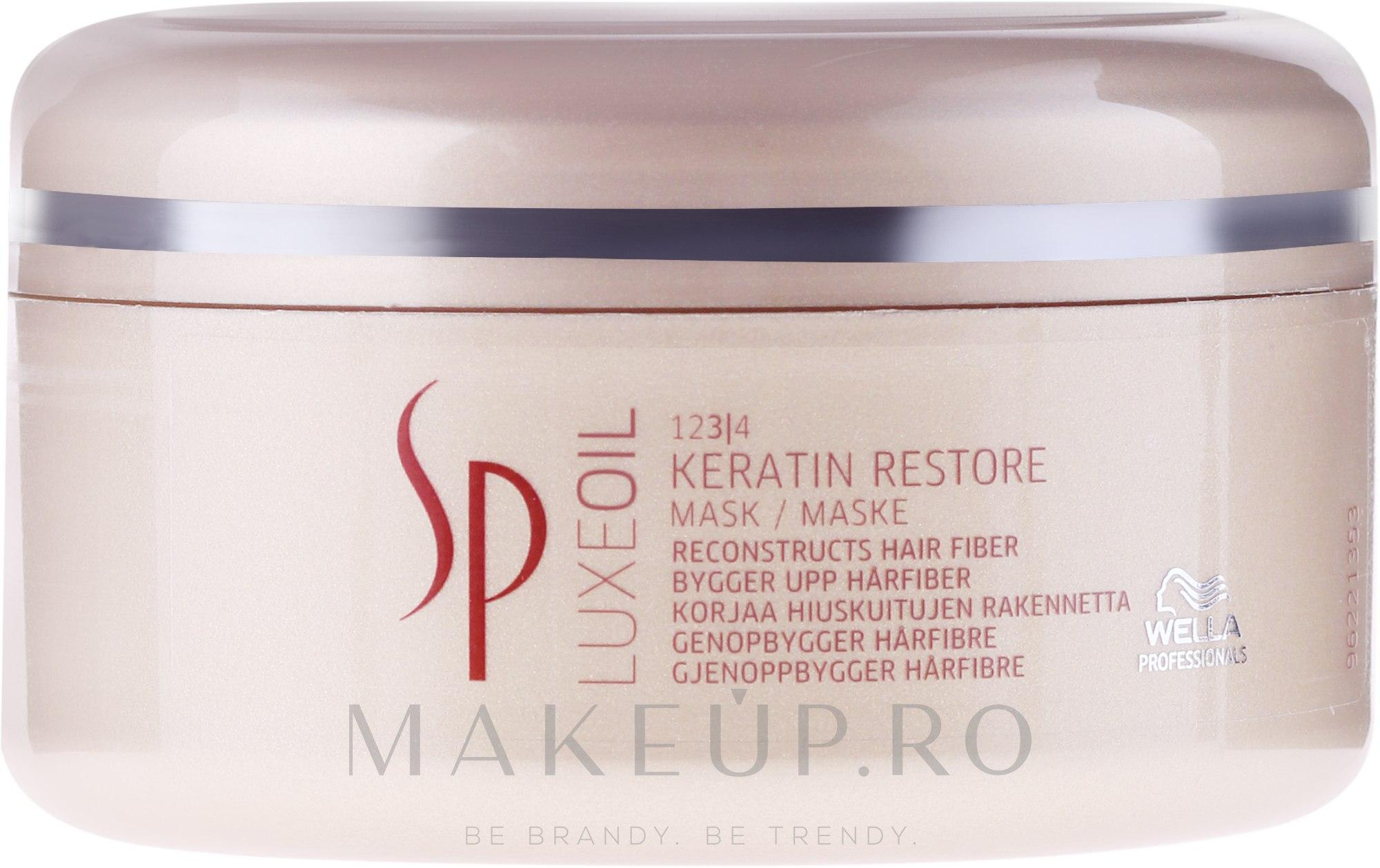 Mască regenerantă cu Keratină pentru păr - Wella SP Luxe Oil Keratin Restore Mask — Imagine 150 ml