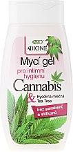 Parfumuri și produse cosmetice Gel pentru igiena intimă - Bione Cosmetics Cannabis Intimate Lactic Acid and Tea Tree Wash Gel