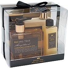 Parfumuri și produse cosmetice Set - Beeing True (sh/gel 250ml +sh/balm 250ml + bath/f 100ml + peel/100ml)