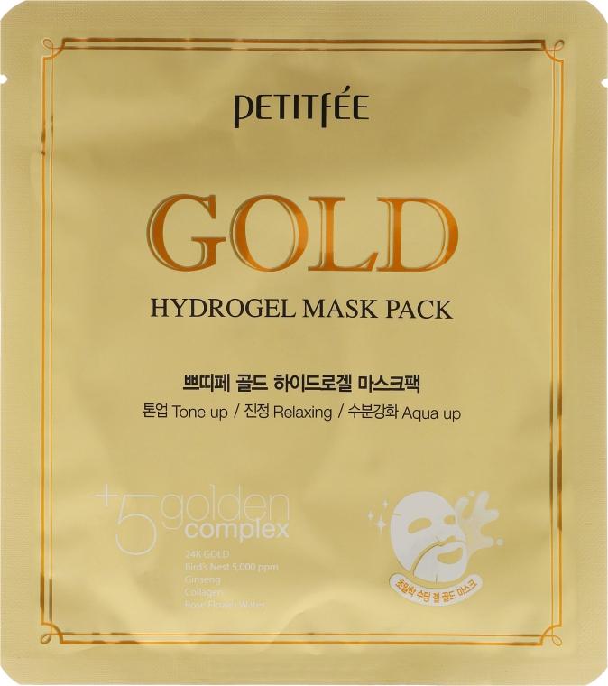Mască antirid pentru față +5 - Petitfee & Koelf Gold Hydrogel Mask Pack +5 Golden Complex