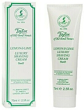 "Parfumuri și produse cosmetice Cremă de ras ""Lămâie și Lime"" - Taylor of Old Bond Street Lemon&Lime Luxury Shaving Cream (în tub)"
