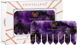 Parfumuri și produse cosmetice Pieptene din ametist pentru masajul scalpului - Crystallove