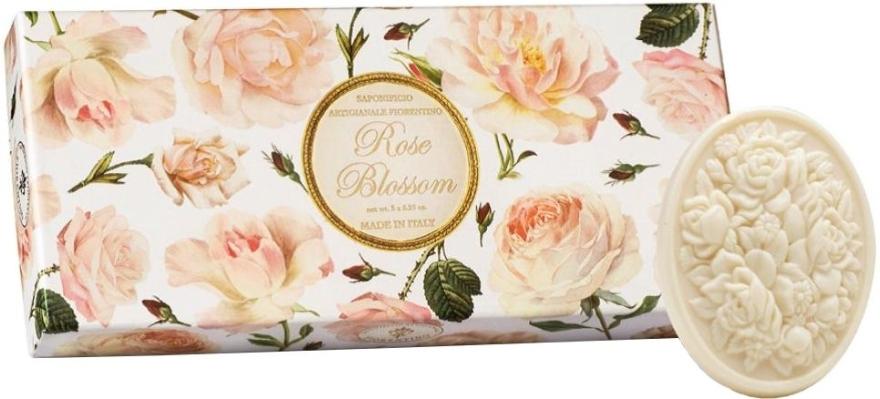 """Set săpunuri """"Trandafir"""" - Saponificio Artigianale Fiorentino Rose Blossom (Soap/3x125g)"""