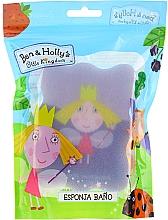 """Parfumuri și produse cosmetice Burete de baie pentru copii """"Ben și Holly"""", Holly, albastră-violet - Suavipiel Ben & Holly Bath Sp"""