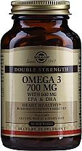 """Parfumuri și produse cosmetice Supliment alimentar """"Omega-3"""" 700 mg EPA & DHA - Solgar Double Strength Omega-3 700 mg EPA & DHA"""