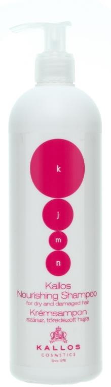 Șampon nutritiv și regenerant pentru păr uscat sau deteriorat - Kallos Cosmetics Nourishing Shampoo For Dry And Damaged Hair — Imagine N1