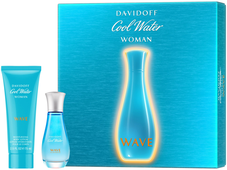 Davidoff Cool Water Wave Woman 2018 - Set (edt/30ml + b/lot/75ml) — Imagine N1
