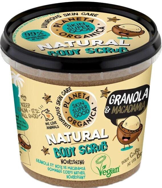"Scrub pentru corp ""Granola și Macadamia"" - Planeta Organica Granola & Macadamia Body Scrub"