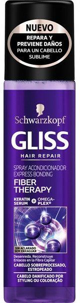 Balsam de păr - Schwarzkopf Gliss Fiber Therapy Express Conditioner — Imagine N1