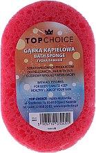 Parfumuri și produse cosmetice Burete de baie 30451, roz + galben - Top Choice