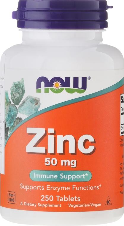 Supliment alimentar, Minerale Gluconat de zinc, 50 mg - Now Foods Zink