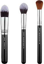 Parfumuri și produse cosmetice Set pensule pentru machiaj, T309, 3buc - Jessup