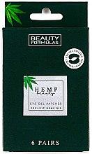 Parfumuri și produse cosmetice Patch-uri sub ochi - Beauty Formulas Hemp Beauty Eye Gel Patches