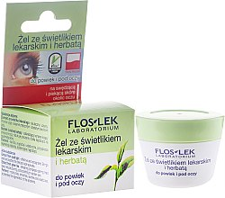 Parfumuri și produse cosmetice Gel pentru pleoape și zona din jurul ochilor, cu iarbă de Silur și ceai verde - Floslek Lid And Under Eye Gel With Eyebright And Green Tea