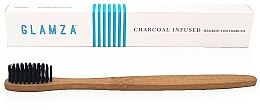 Parfumuri și produse cosmetice Periuță de dinți din bambus și cărbune - Glamza Activated Charcoal Infused Bamboo Toothbrush