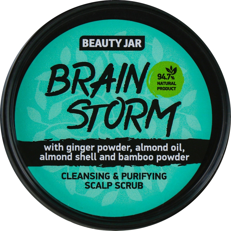 "Scrub pentru scalp ""Brain Storm"" - Beauty Jar Cleansing & Purifying Scalp Scrub — фото N1"