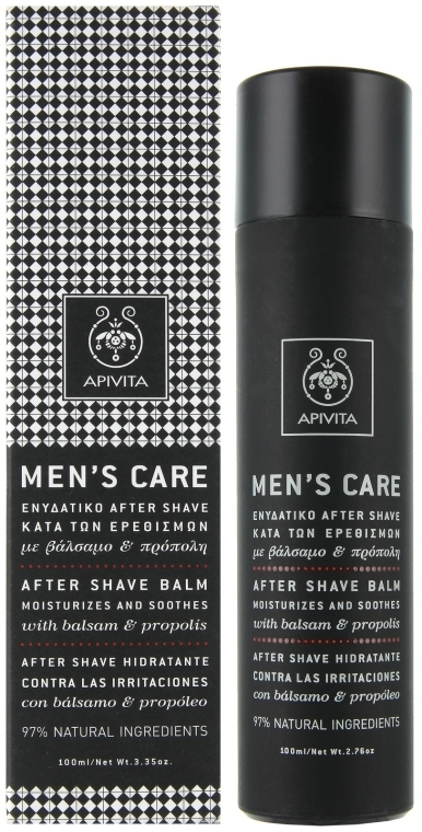 Balsam cu hypericum și propolis după ras - Apivita Men Men's Care After Shave Balm With Hypericum & Propolis — Imagine N1