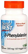 Parfumuri și produse cosmetice D-Fenilalanină, 500 mg - Doctor's Best D-Phenylalanine