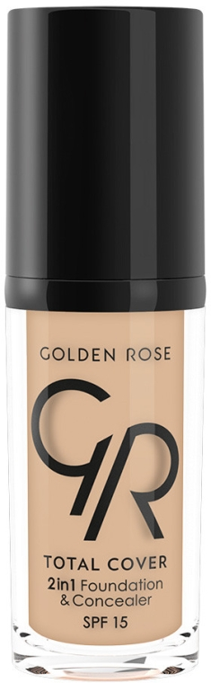 Fond de ten corector - Golden Rose Total Cover 2in1 Foundation & Concealer