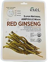 Parfumuri și produse cosmetice Mască de țesut cu extract de ginseng - Ekel Super Natural Ampoule Mask Red Ginseng