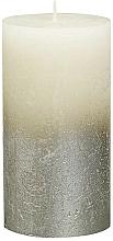 Parfumuri și produse cosmetice Lumânare cilindrică, fildeș, 130x68 mm - Bolsius Metallic Candle