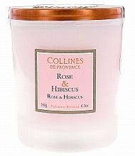 """Parfumuri și produse cosmetice Lumânare parfumată """"Trandafir și Hibiscus"""" - Collines de Provence Candle Rose & Hibiscus"""