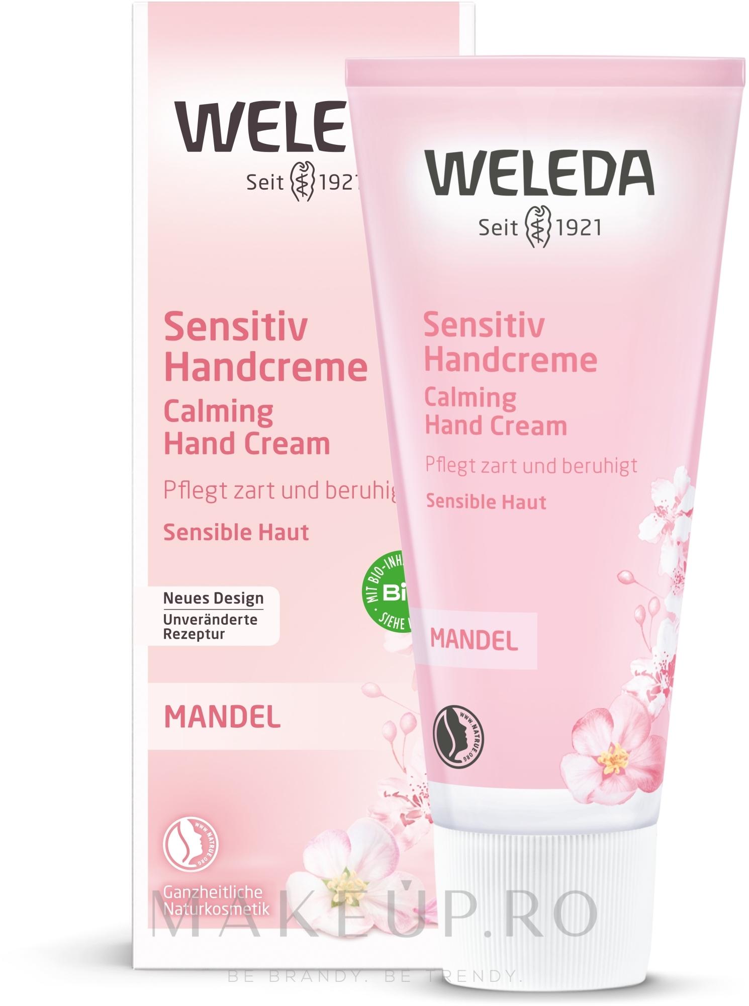 Cremă cu extract de migdale pentru mâini - Weleda Mandel Sensitiv Handcreme — Imagine 50 ml