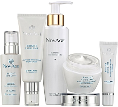 Parfumuri și produse cosmetice Set - Oriflame NovAge Bright Sublime (gel/200ml+eye/cr/15ml+ser/30ml+d/cr/50ml+n/cr/50ml)