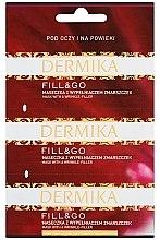 """Parfumuri și produse cosmetice Mască de netezire pentru pielea din jurul ochilor """"Fill & Go"""" - Dermika Mask With a Wrinkle-Filler"""