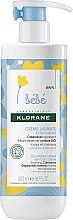 Parfumuri și produse cosmetice Cremă pentru copii - Klorane Bebe Cleansing Cream with Cold Cream