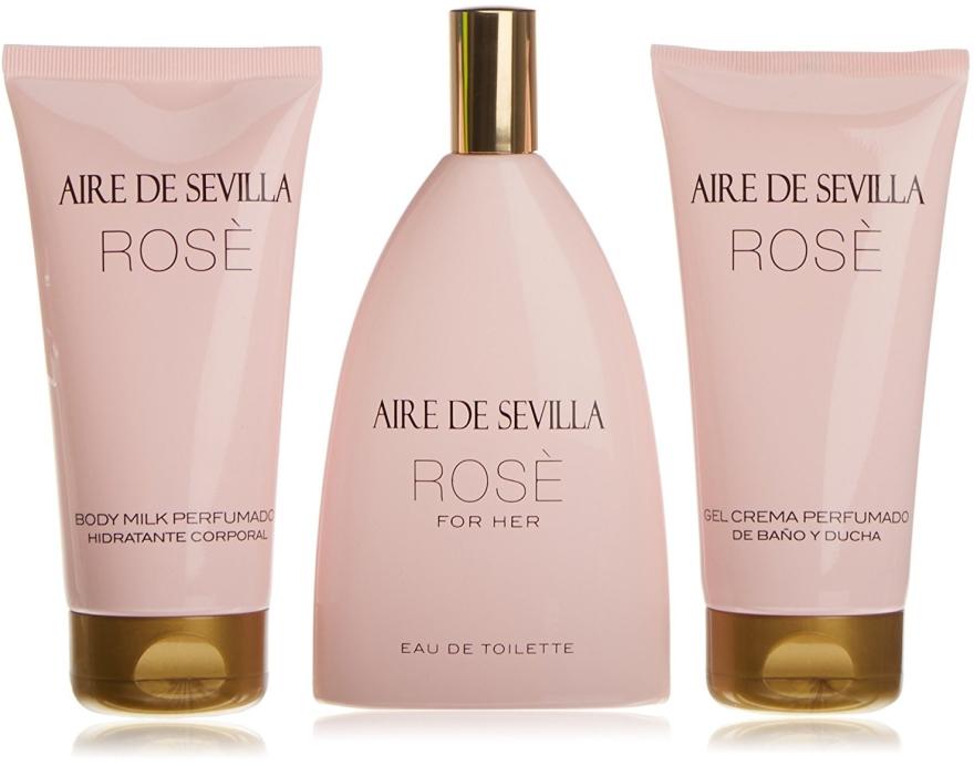Instituto Español Aire de Sevilla Rose - Set (edt/150ml + b/milk/150ml + sh/cr/150ml) — Imagine N1