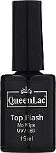 Parfumuri și produse cosmetice Top pentru gel-lac fără strat lipicios - QueenLac Top Flash No Wipe UV/LED