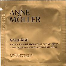 Parfumuri și produse cosmetice Cremă regenerantă pentru față - Anne Moller Goldage Extra Rich Restorative Cream SPF15 (mostră)